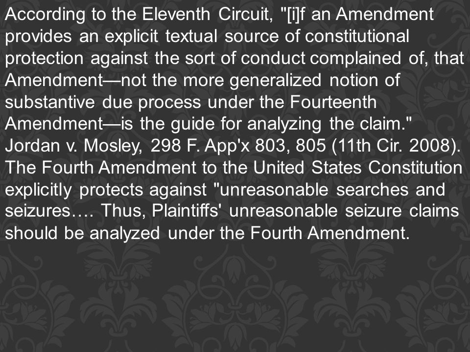 According to the Eleventh Circuit, [i]f an Amendment